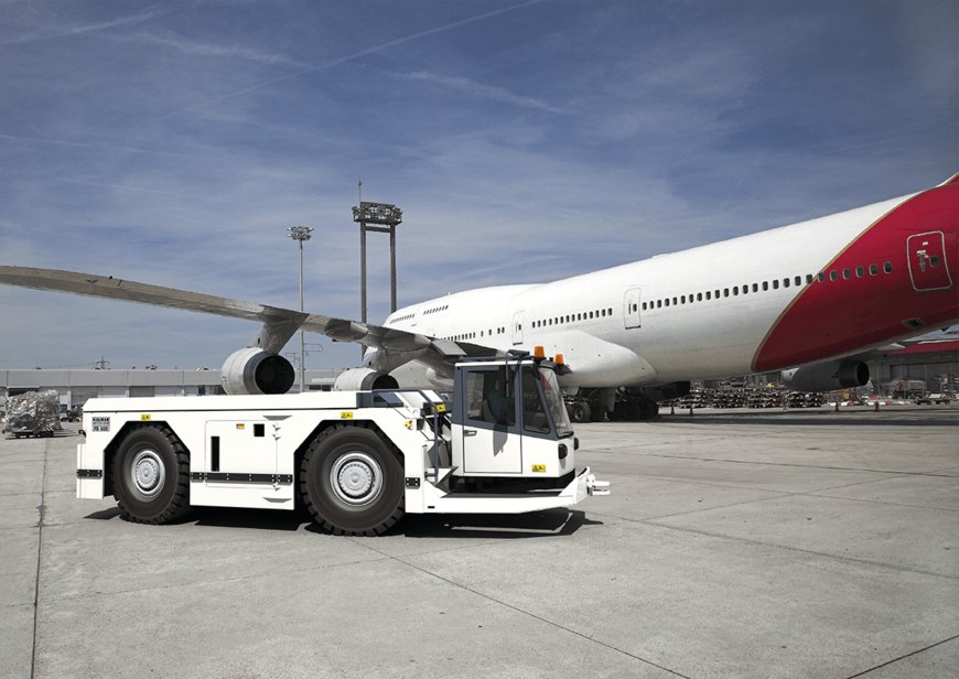 Hybrid airport tractor