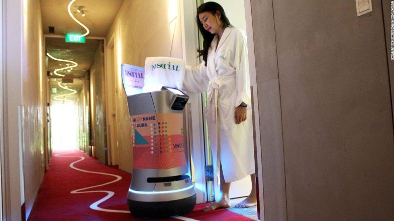 Savioke Room Service Robot
