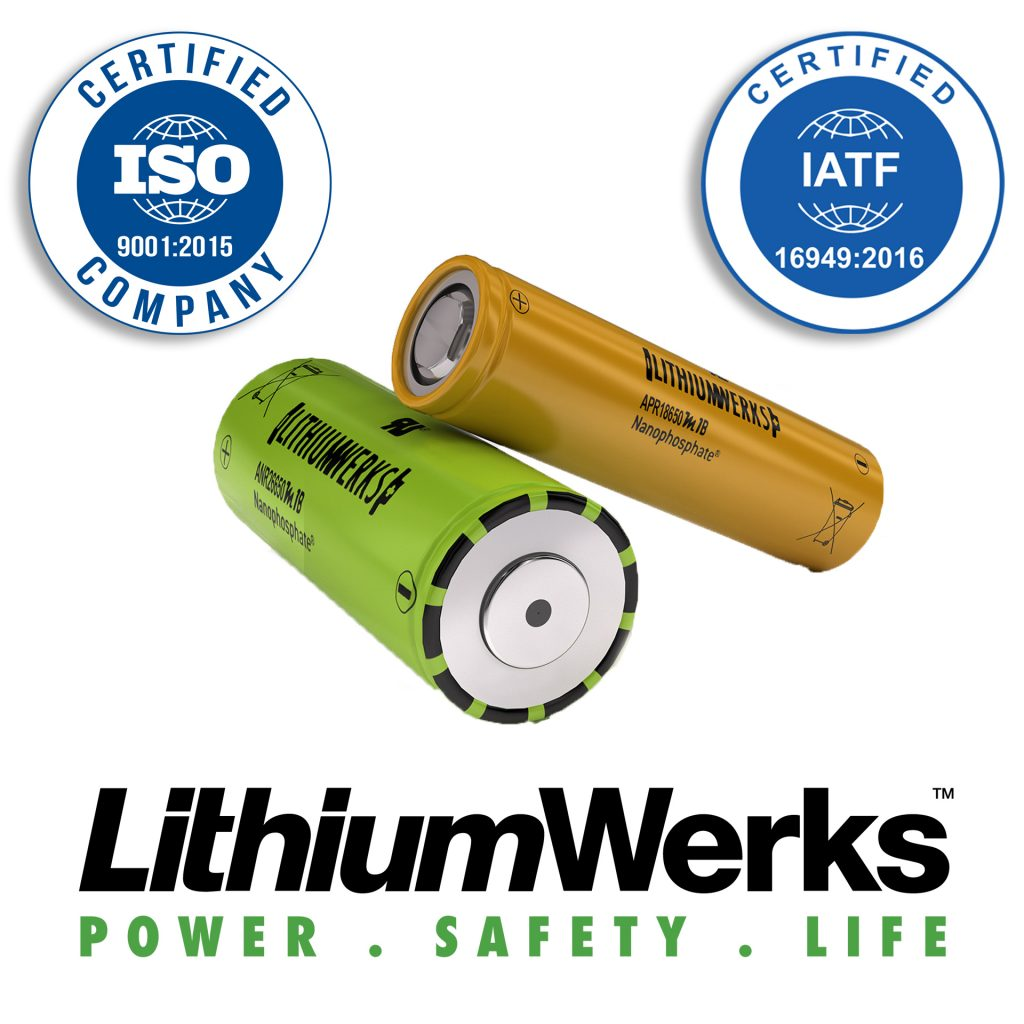 Lithium Werks Achieves IATF 16949 and Renews ISO 9001