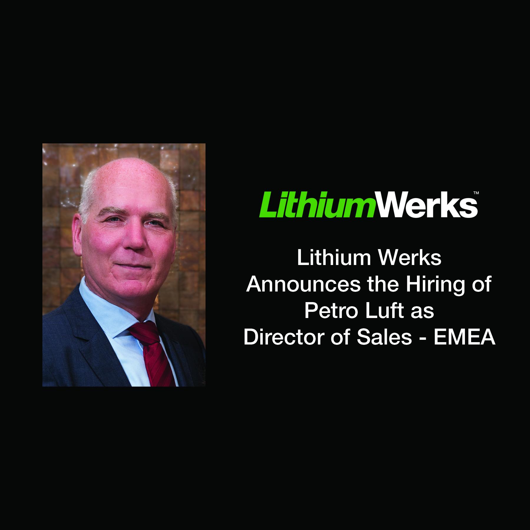 Luft Hired as Dir of Sales EMEA